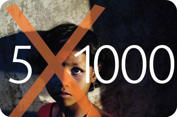 Terre des Hommes: la nuova campagna 5X1000