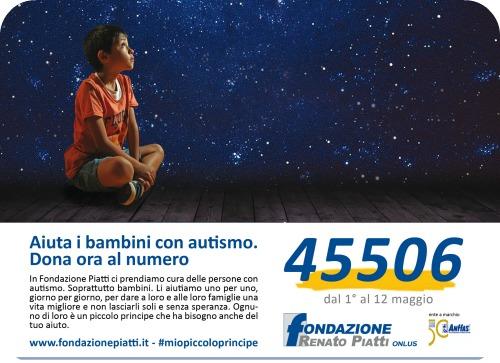 Mio piccolo principe, non sarai più solo: campagna SMS on air di Fondazione Piatti!