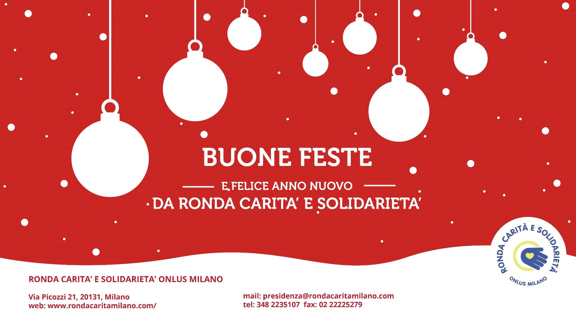 Ecard natalizia Ronda Carità e Solidarietà