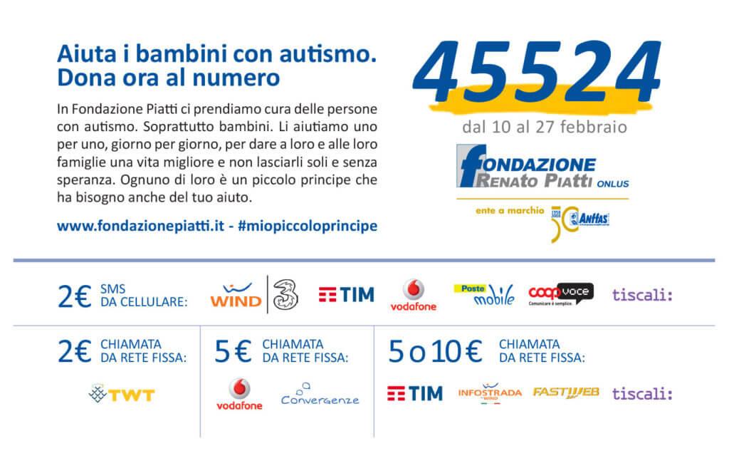 """Fondazione Piatti lancia la campagna sms """"Mio piccolo principe, non sarai più solo!"""""""