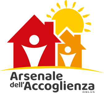 Realizzazione Logo + Leaflet Istituzionale + Notiziario per Arsenale dell'Accoglienza