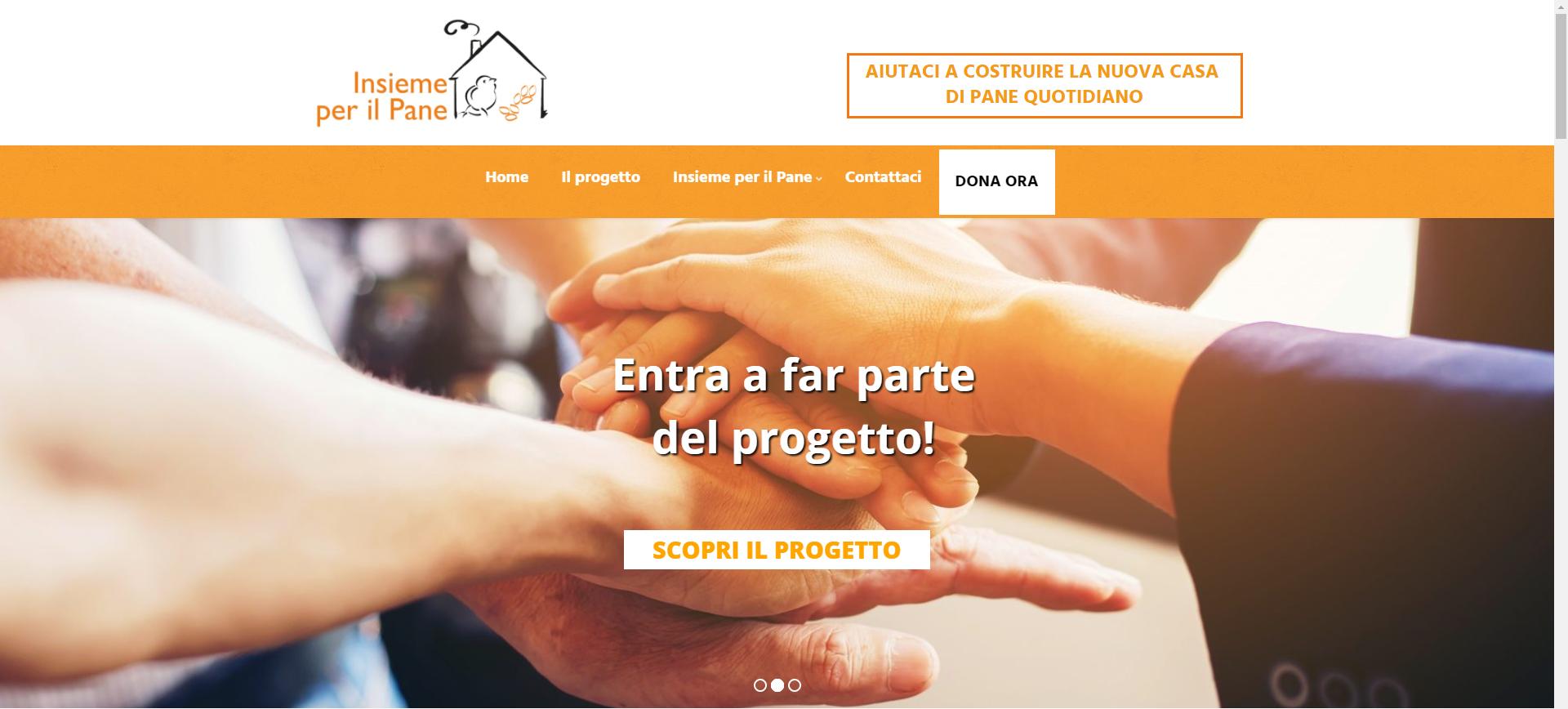 """Sito internet per la Capital Campaign """"Insieme per il Pane"""" di Pane Quotodiano"""