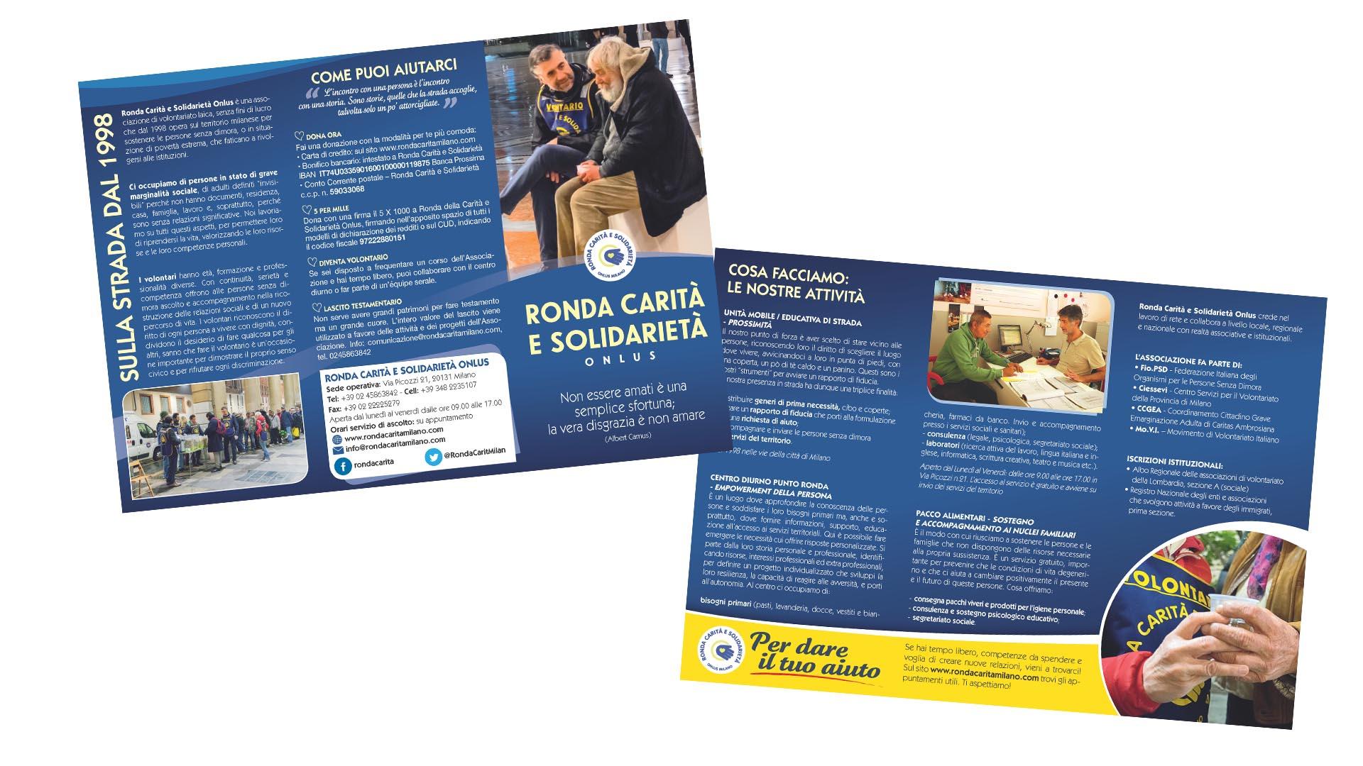 Leaflet Istituzionale Ronda Carità e Solidarietà Milano