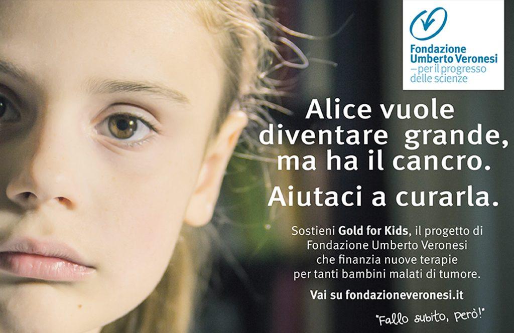 Fondazione Umberto Veronesi a sostegno della lotta contro i tumori che colpiscono i bambini e gli adolescenti