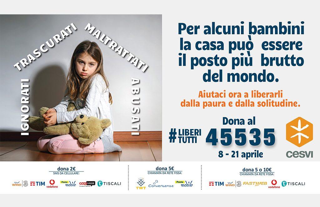 CESVI Onlus, al via campagna sms solidale #Liberitutti