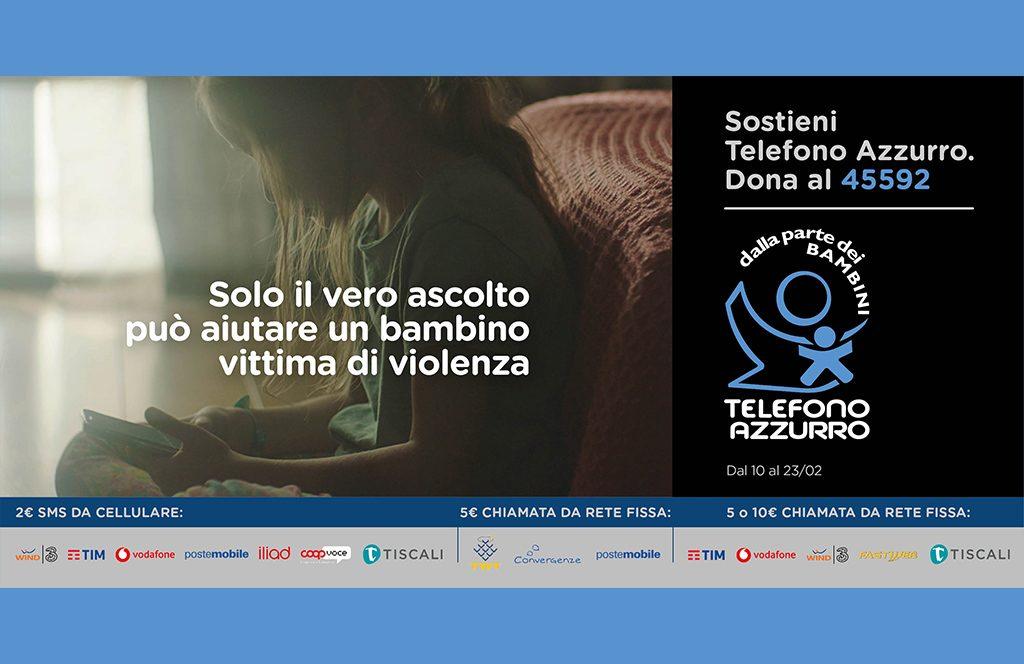 """Al via la Campagna Sms Solidale """"Il vero ascolto"""" di Telefono Azzurro"""