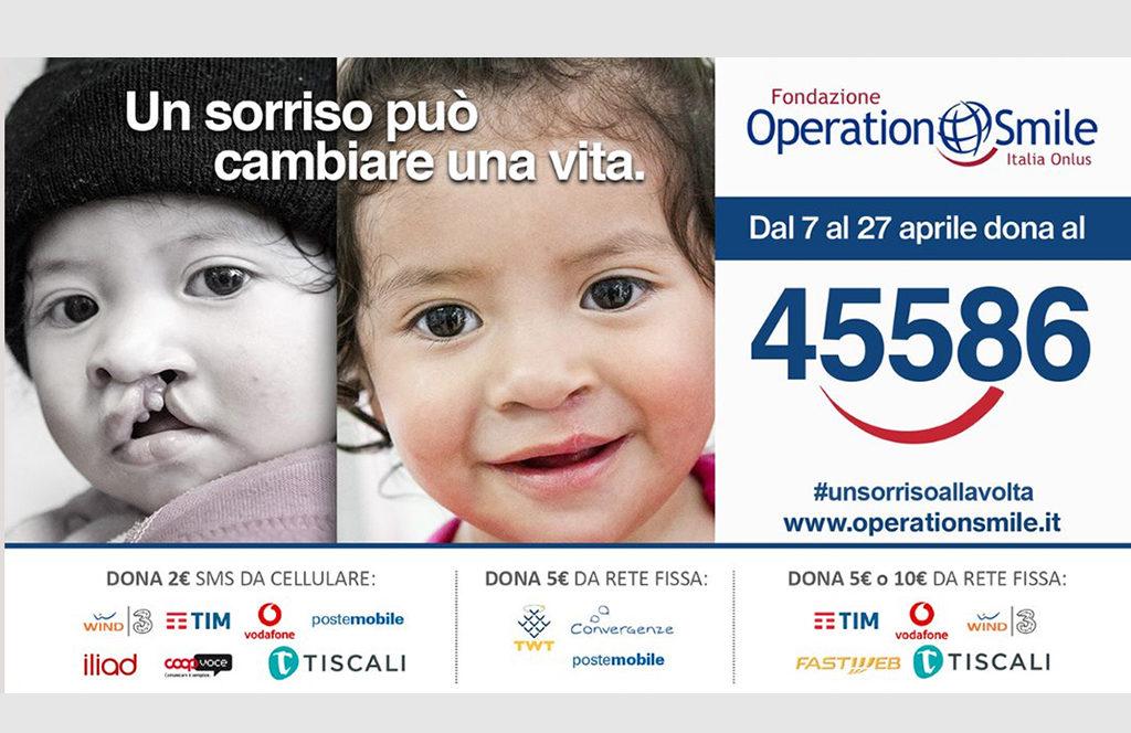 #UnSorrisoAllaVolta: la campagna sms solidale di Operation Smile