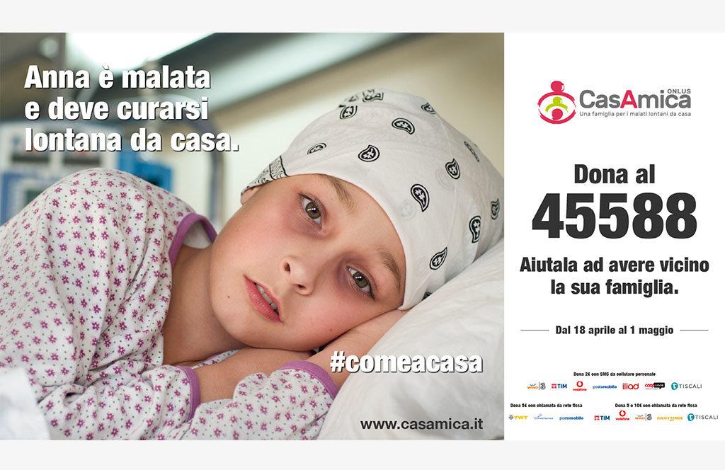 #ComeACasa: attiva la campagna sms di CasAmica Onlus