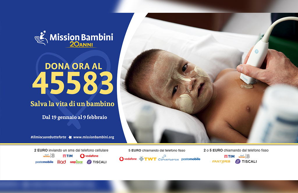 """""""Adesso il mio cuore batte forte"""": la campagna sms di Mission Bambini"""
