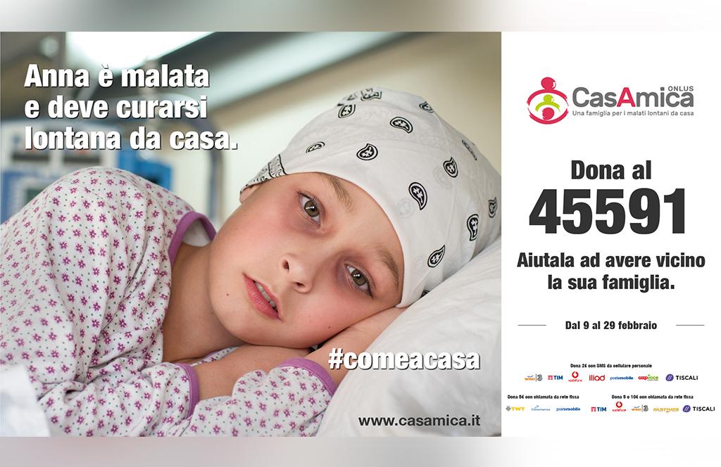#ComeACasa: la campagna sms di CasAmica Onlus