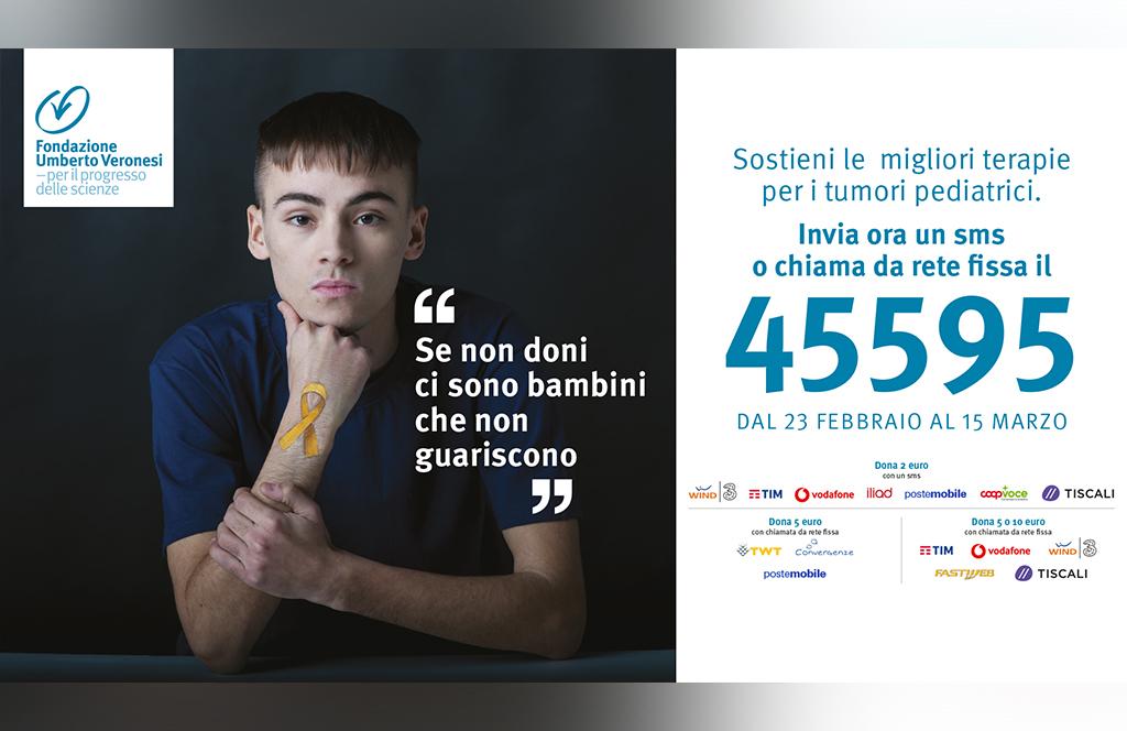 Torna la campagna sms solidale di Fondazione Umberto Veronesi